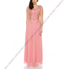 Beautiful charming maxi evening dress with floral embroidery on the top R91150