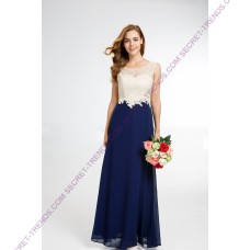 Elegant evening dress in two colors of chiffon with ornate pearls on the top R9157