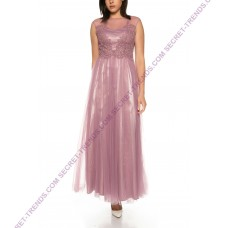 Lightweight tulle dress with lace from Lautinel