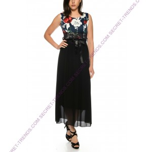 Beautiful everyday dress with floral pattern * R1612