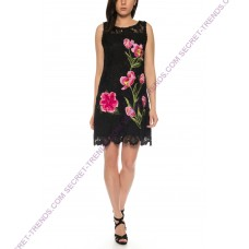 101 Idees Lace dress with floral pattern * Flower N`Tulip A1154