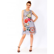 Lace Dress with Flower Print °Krisse
