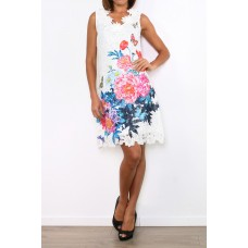 101 Idees Lace dress with floral pattern * Rising Rose A1146