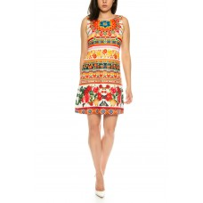 Beautiful light summer dress / Multicolored with floral pattern of 101 Idees A2302