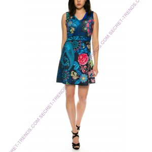 101 Idees Elegant summer dress with floral pattern * Blueshine A2317