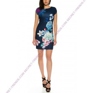 101 Idees half-length summer dress with floral pattern * Josephine A2307