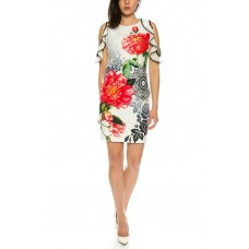 101 Idees Designer summer dress with floral pattern * Flowers N 'Roses B2321