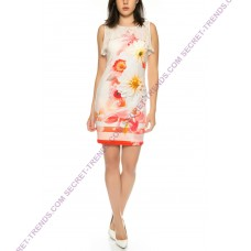 Figurbetontes summer dress with floral pattern of 101 Idees A2324
