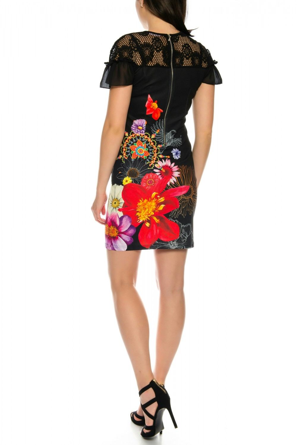 Beautiful 101 Idees dress with floral pattern and ruffles for summer ...