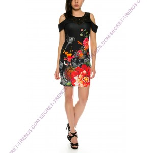 Beautiful 101 Idees dress with floral pattern for summer B2328