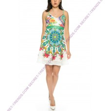 Beautiful summer dress with floral pattern of 101 Idees D1619