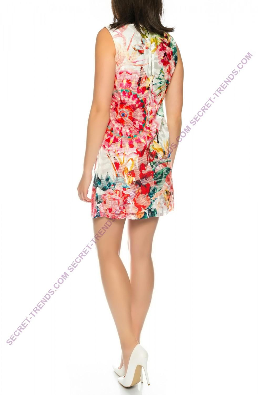 101 idees lace dress with floral pattern melis h380. Black Bedroom Furniture Sets. Home Design Ideas