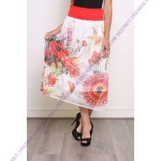 101 Idees Long skirt multicoulored * Shally