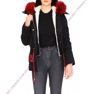 Jacket With Red Fur