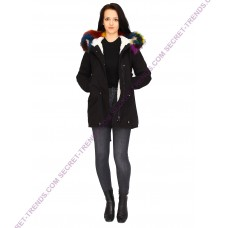 Jacket With Colorful  Fur