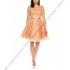 Beautiful Pinzessin cocktail dress made of tulle with floral pattern by Juju & Christine R1562