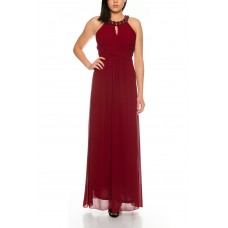 Beautiful Elegant Neckholder Evening Dress with Embellished Beaded Neck M-8027