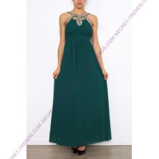 Beautiful Elegant Chiffon evening dress with stones on the neck R8110
