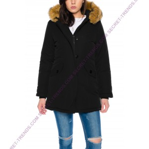 Jacket with fur hood M131-3