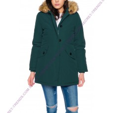 Jacket with fur hood M131-4