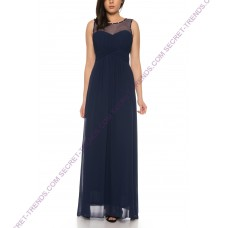 Beautiful Simple Evening Dress / Chiffon Maxi Dress with Embellished Beads by Charm's M8107