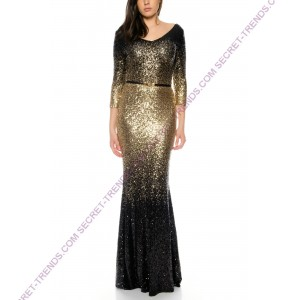 Beautiful charming Maxi evening dress long sleeve with fully occupied by Juju & Christine R1601