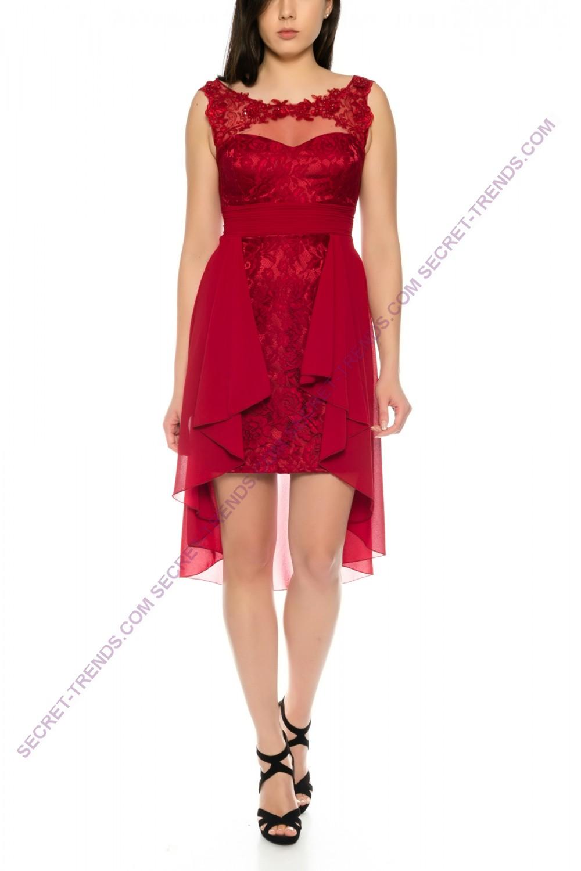 Beautiful Vokuhila dress cocktail dress made of chiffon and lace R16201