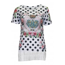 T-Shirt with dots °Royal
