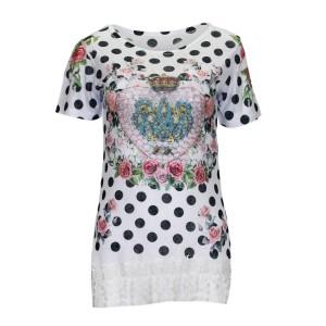 T-Shirt with dots °Royal