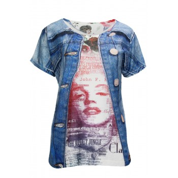 T-Shirt with Jeans PrintView all T-Shirts