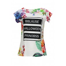 T-Shirt with roses °BBLAUSE HALLOWEEN PRINOBBS