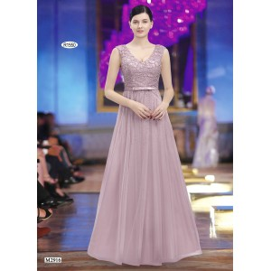 Juju & Christine evening dress with decorative trim and rhinestone - R1550