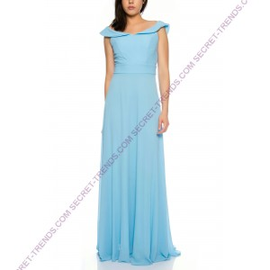 Elegant Offshoulder Evening Dress A-Line Chiffon R75003