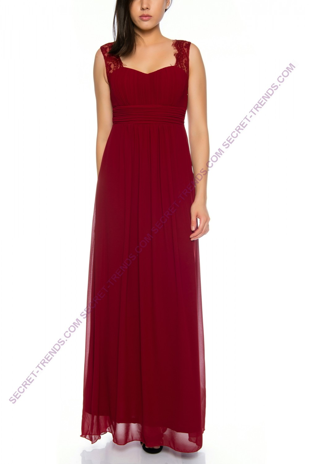 Beautiful evening dress / Maxikleid with straps made of light R8080