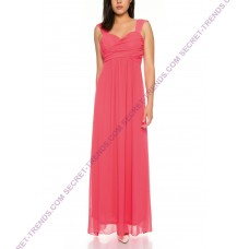 Beautiful simple evening dress with straps and transparent lace on back R8176