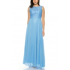 A charming evening dress made of flowing chiffon with a fine lace top from Juju & Christine R1570