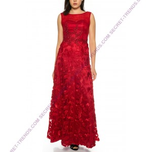 Beautiful evening dress with floral patchwork by Juju & Christine R1581
