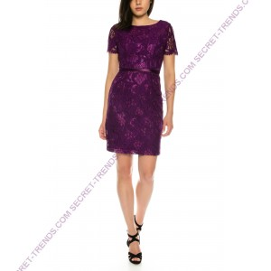Elegant and Figurbetontes cocktail dress half sleeve with floral lace by Juju & Christine R1589