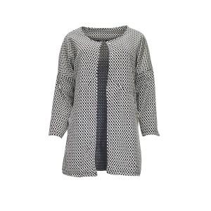 Coat with plaid